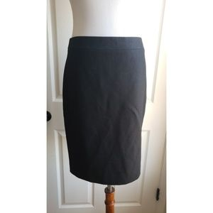 J. Crew no.2 pencil skirt size 4 black wool lined